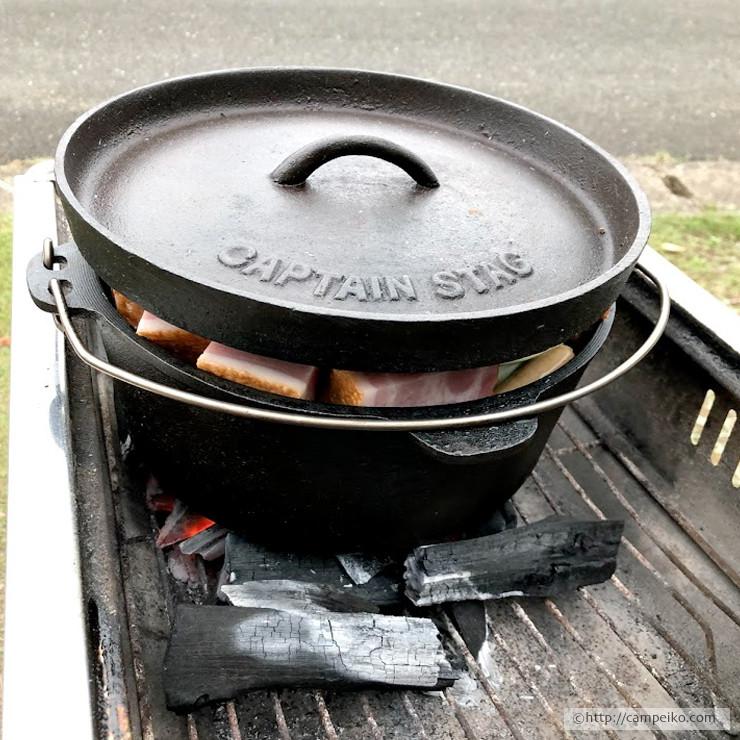 ダッチオーブンでポトフを作る